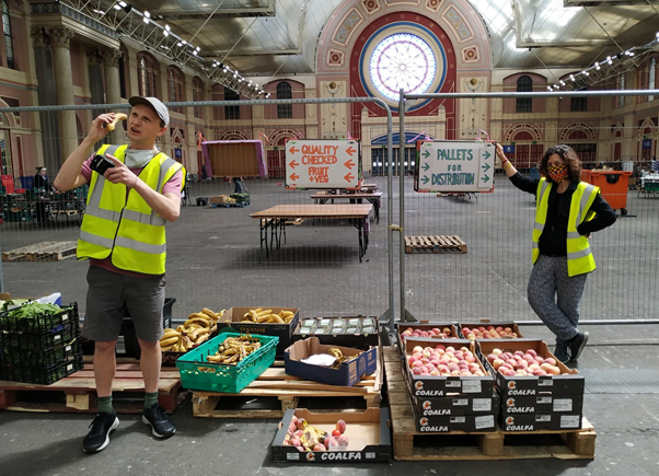 Edible London - Covid Operation - Robbie and Chiara preparing beneficiaries orders